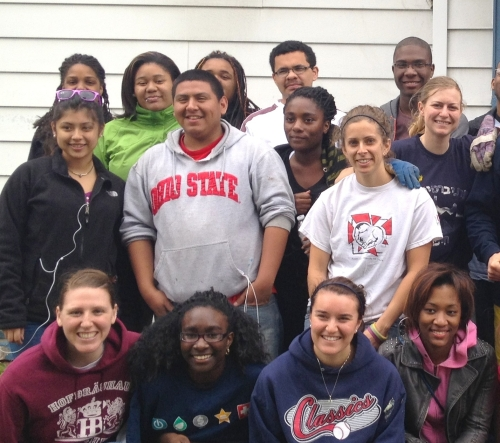 Scholars after volunteering
