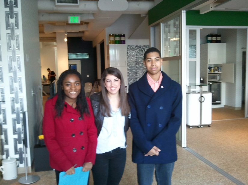 Sadiah, Meredith and Dominic at Maga Design.
