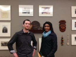 Brian and Alem at Peace Corps Headquarters.