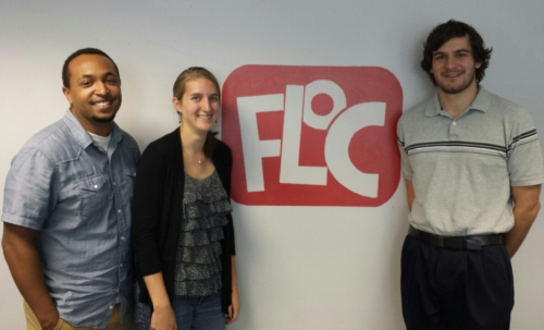 Our new Neighborhood Tutoring Program Corps members: Ibsaa, Catherine and Jim.