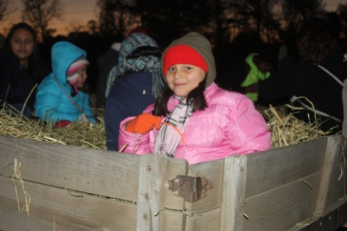 Students and their families enjoy the hayride at Butler's Orchard.  Picture taken by Mike Stagnitta, Director of Marketing at The Meltzer Group.