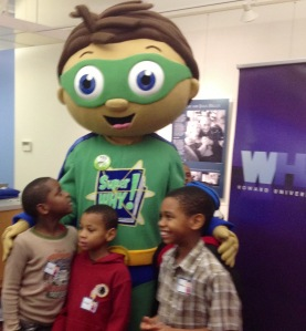 Super Why from PBS and our students.