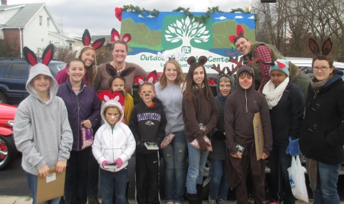 Students and OEC staff during the Charles Town-Ranson Holiday Parade.