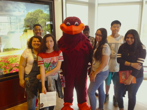 Students with mascot